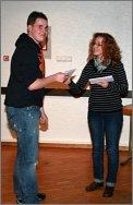 Ehrung Clubmeisterschaft -Philipp Lahme durch Nina Becker